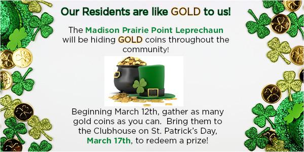 Prairie Point Gold Scavenger Hunt Announcement