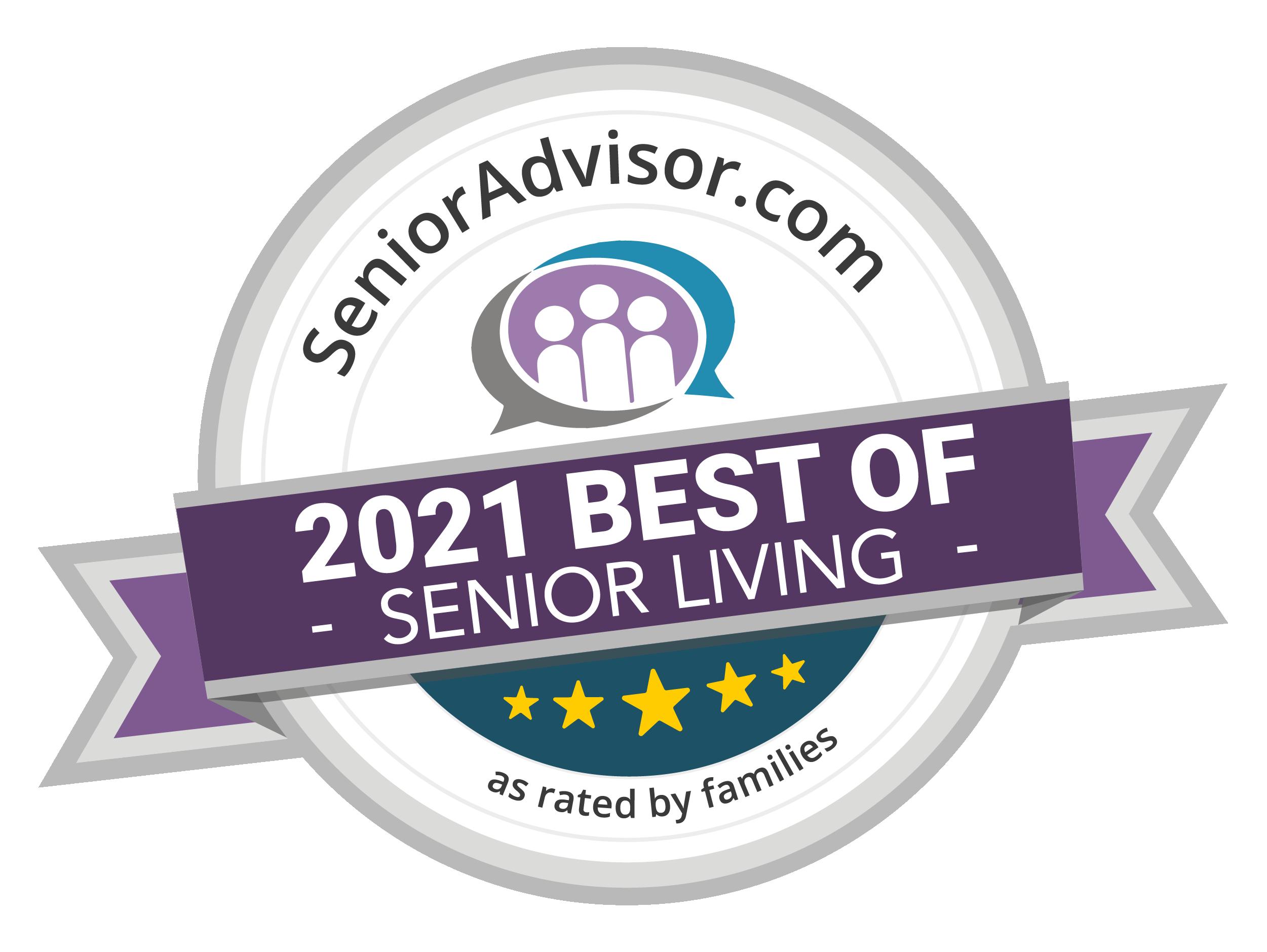 Pacifica Senior Living Paradise Valley is a SeniorAdvisor.com 2021 Best of Senior Living Winner!