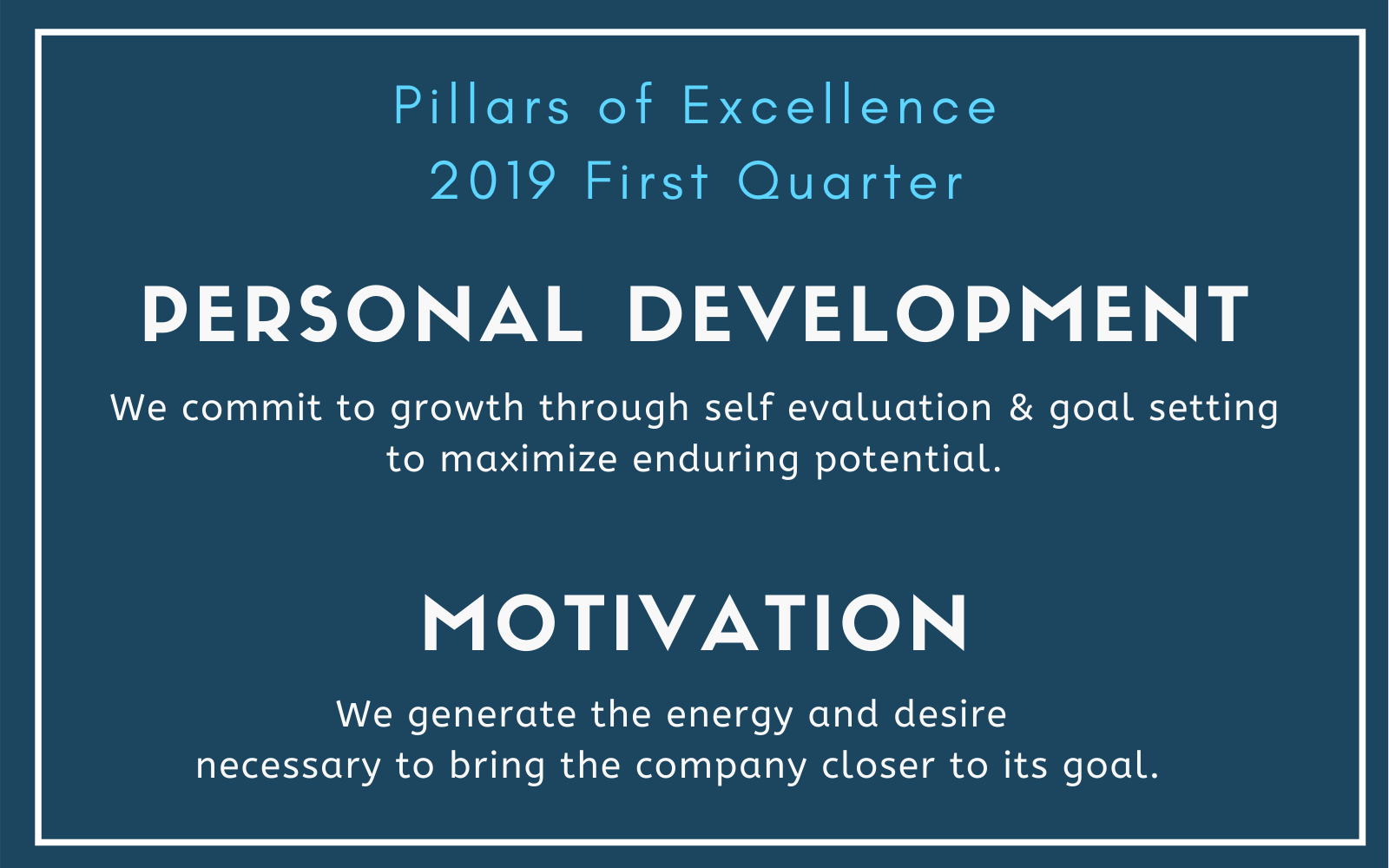 NALS Pillars of Excellence First Quartrt
