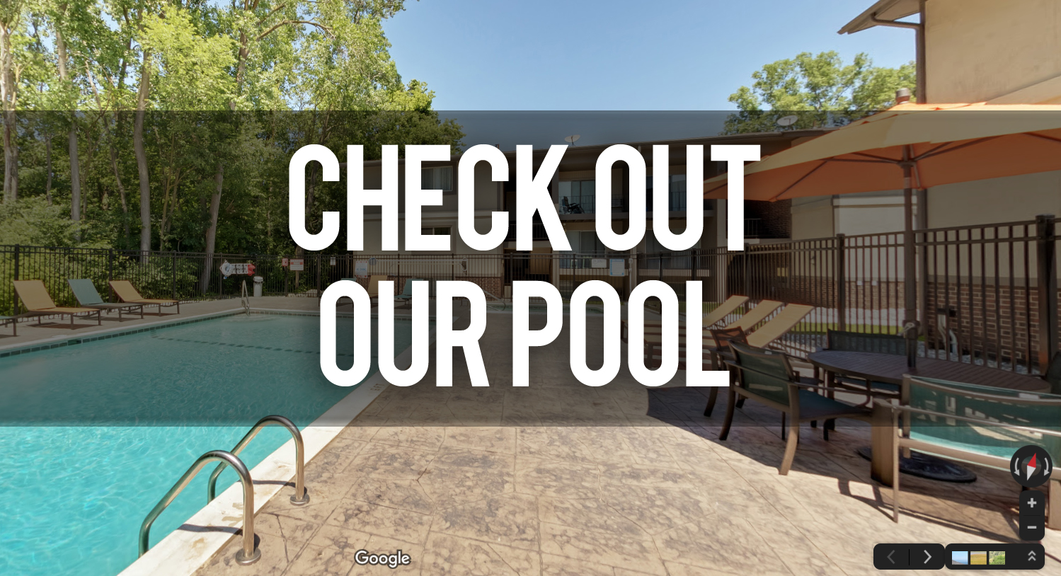 Virtual Tour of The Pool at Burcham Apartments