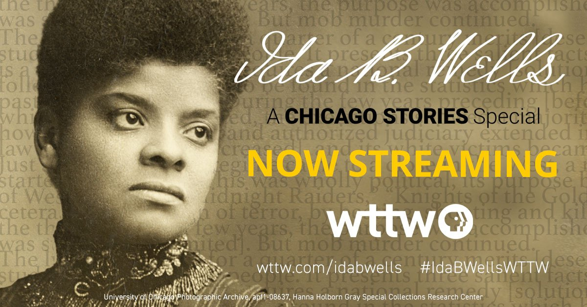 WTTW Documentary on Ida B. Wells, funded in part by Pangea Properties, is now streaming