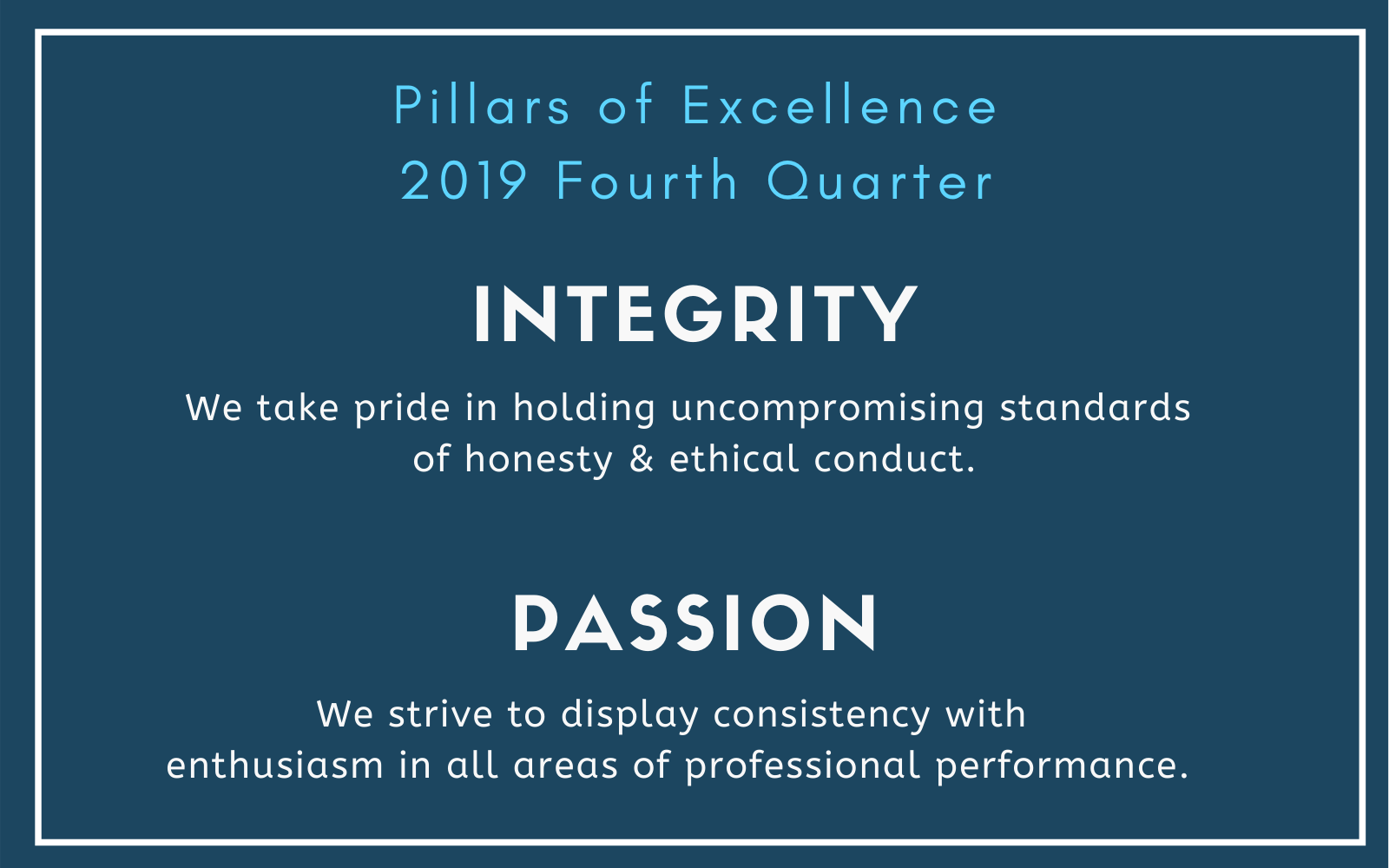 NALS Pillars of Excellence FourthQuarter