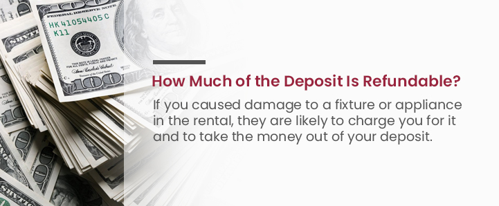 How much of the deposit is refundable
