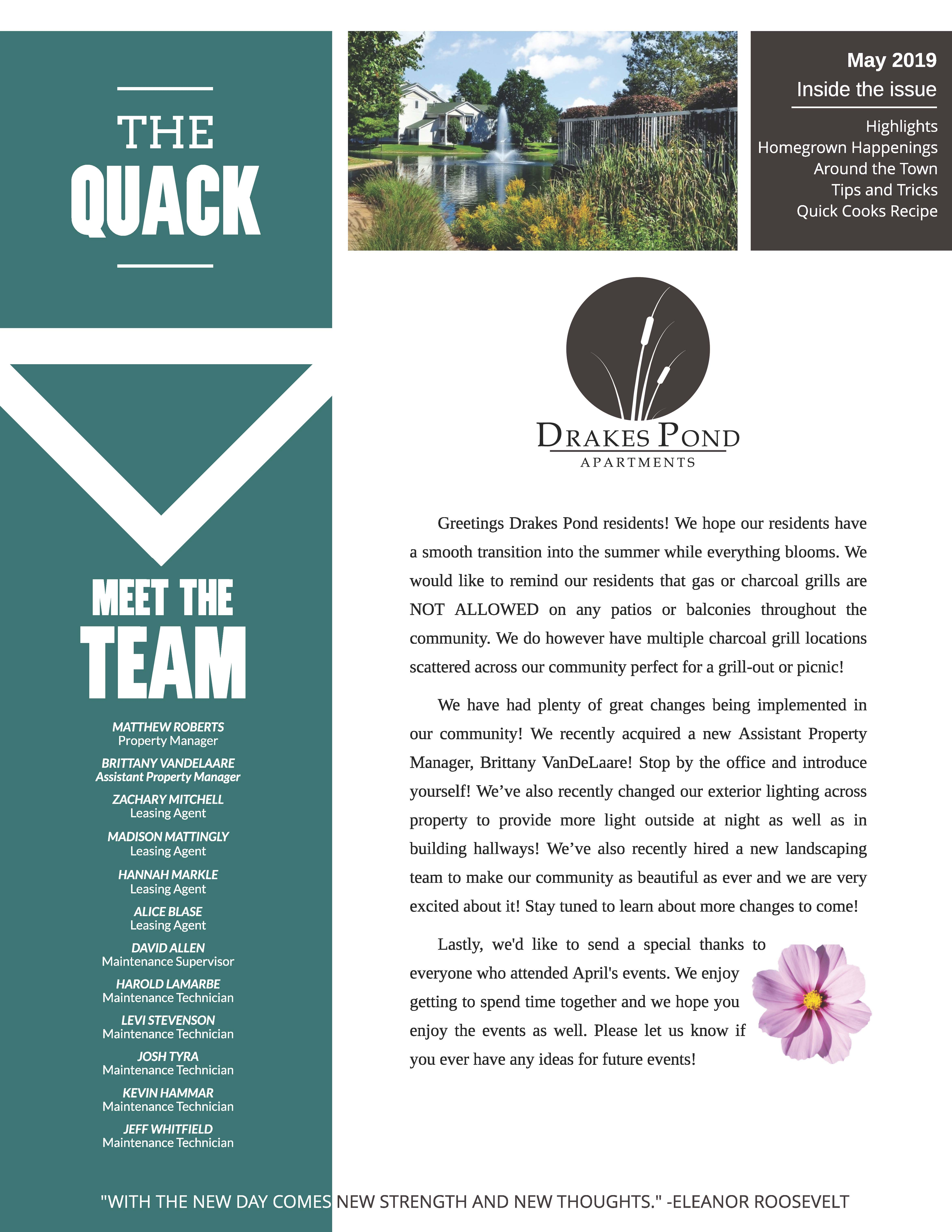 May 2019 Newsletter The Quack