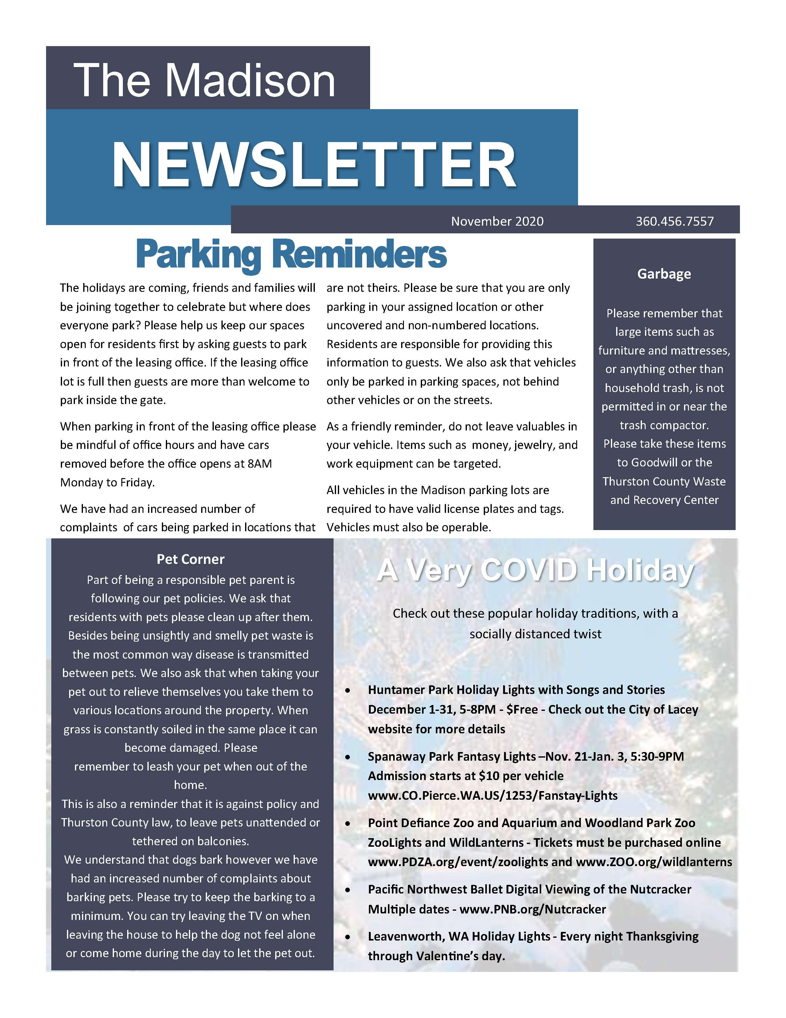 If you need assistance with accessing the Madison November 2020 Newsletter, please contact our office at ^PropertyPhone^