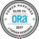 J Turner Research 2017 Elite 1% ORA Power Ranking Award for Online Reputation