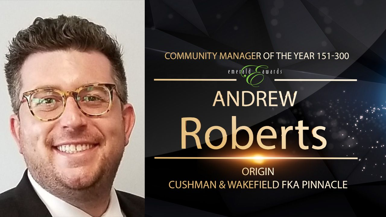 Community Manager of the Year 151-300 Units: Andrew Roberts