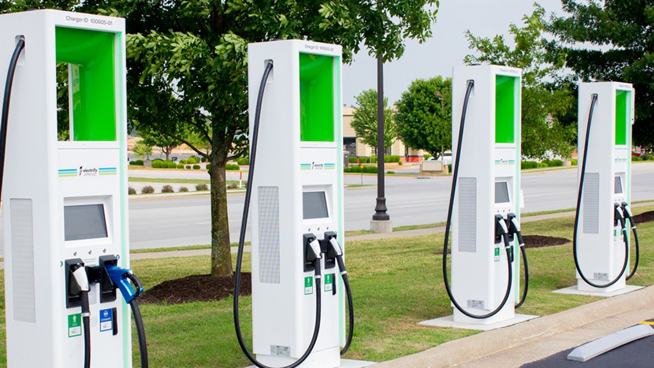 charging stations for electric vehicles at August Court Texas
