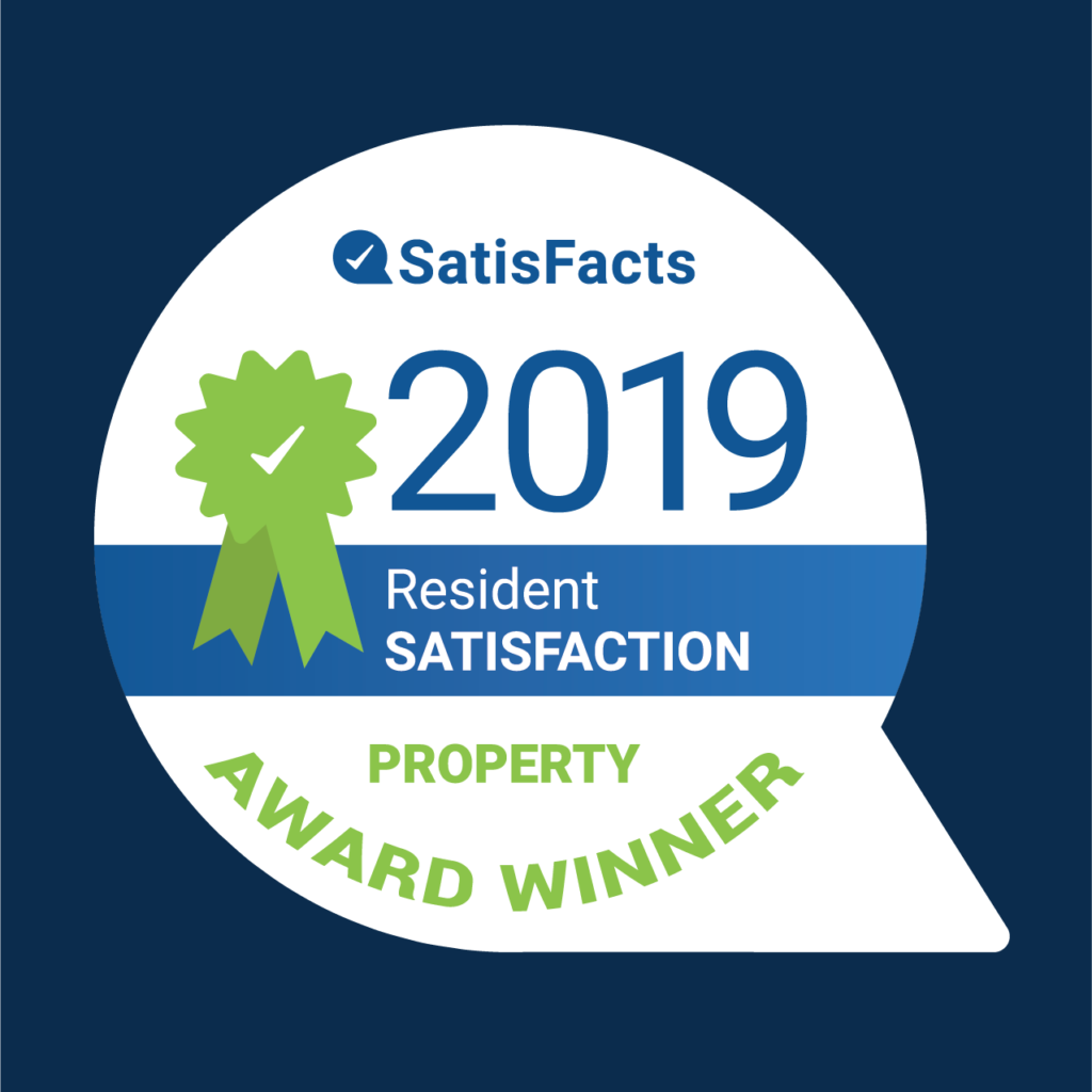 2019 SatisFacts Resident Satisfaction Property Award Winner