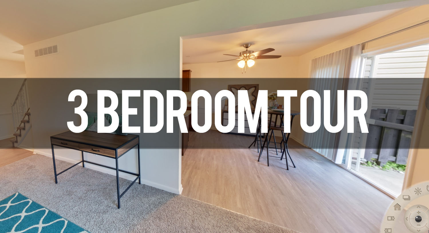 Virtual Tour 3 Bedroom Apartment at Carriage Hill Apartments in East Lansing MI