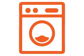 High-Tech Laundry Room with Wi-Fi Status Notifications