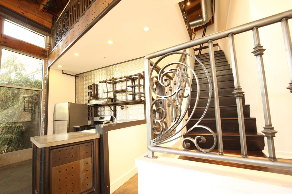 Broadway Lofts Kitchen and Staircase