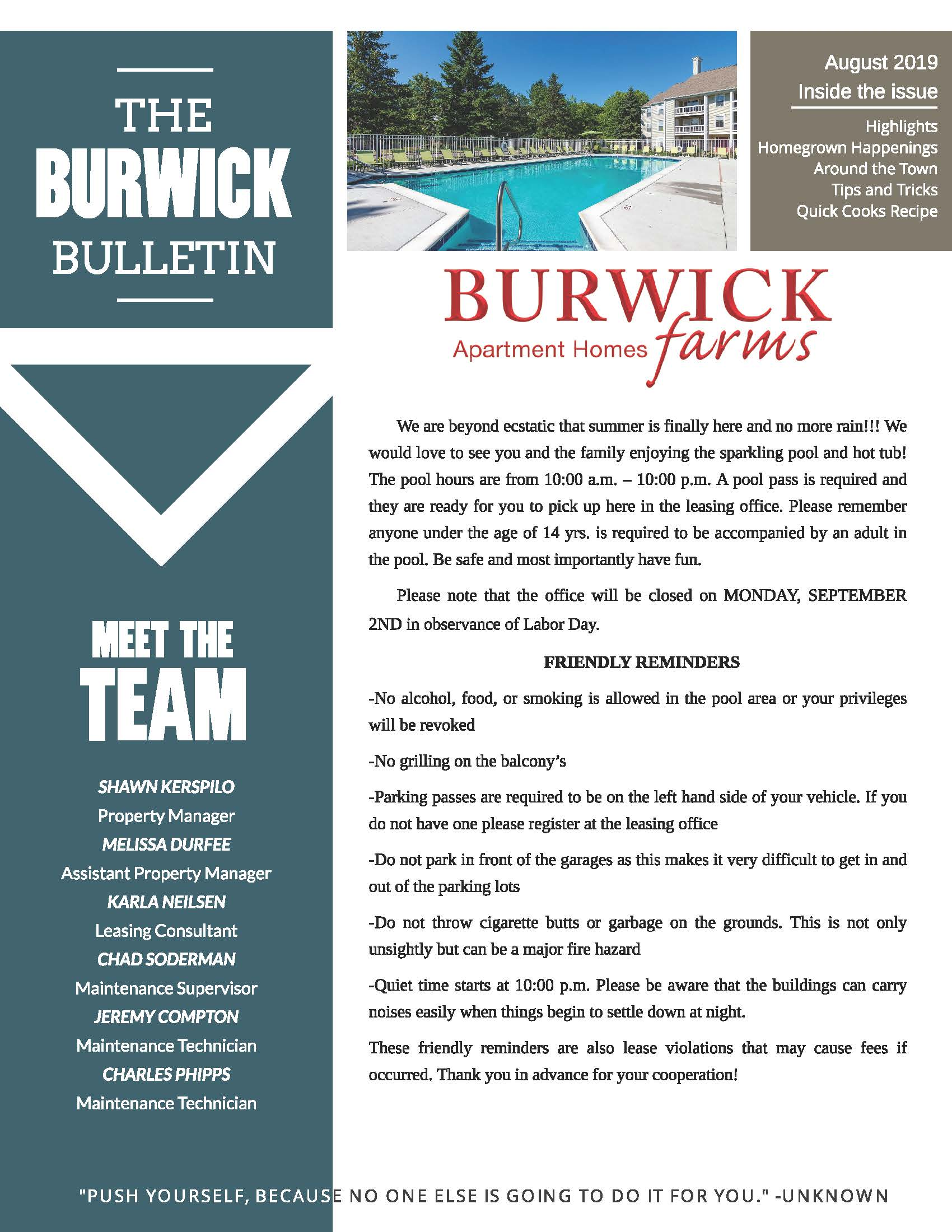 The Burwick Farms Community