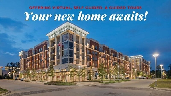 Offering virtual, self-guided and guided tours. Your new home awaits!