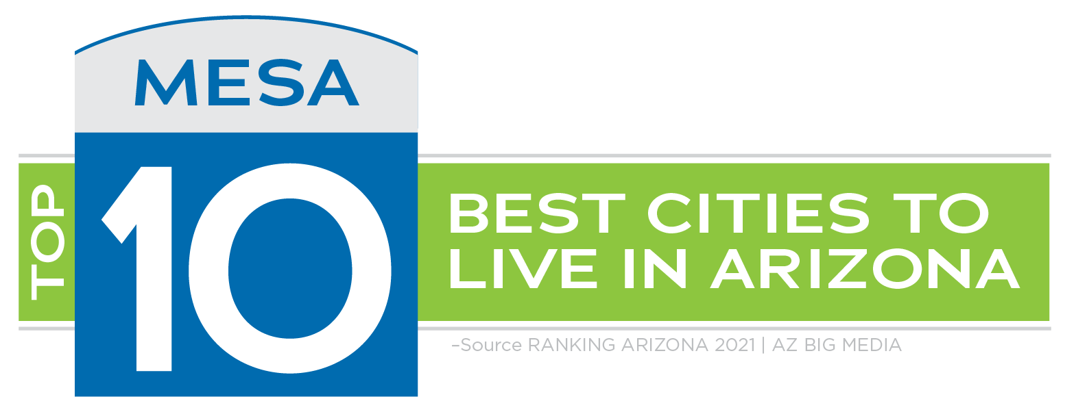 Mesa is ranked one of the best top 10 cities to live in Arizona