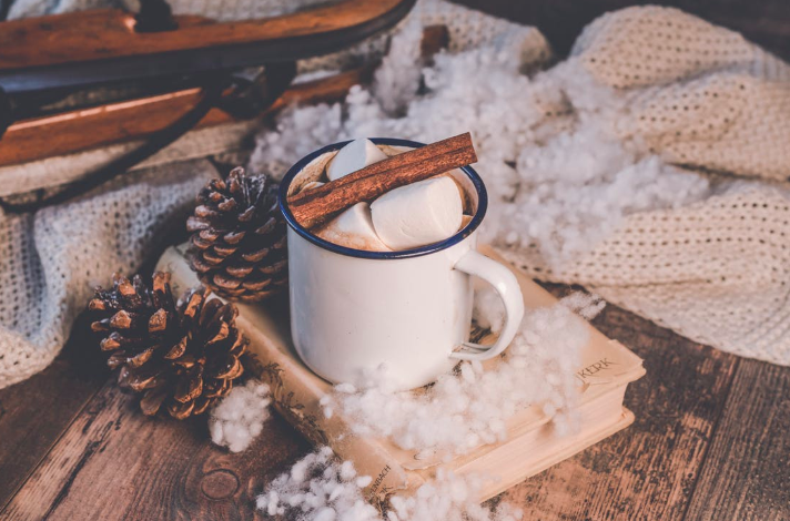 hot cocoa and blanket