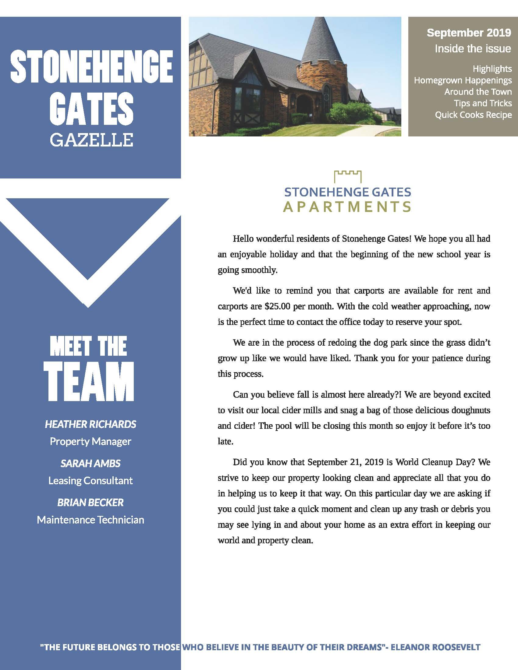 The Stonehenge Gates Community