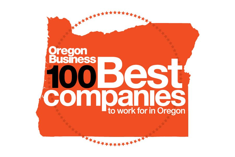 Red Award logo for 100 Best Places to Work in Oregon