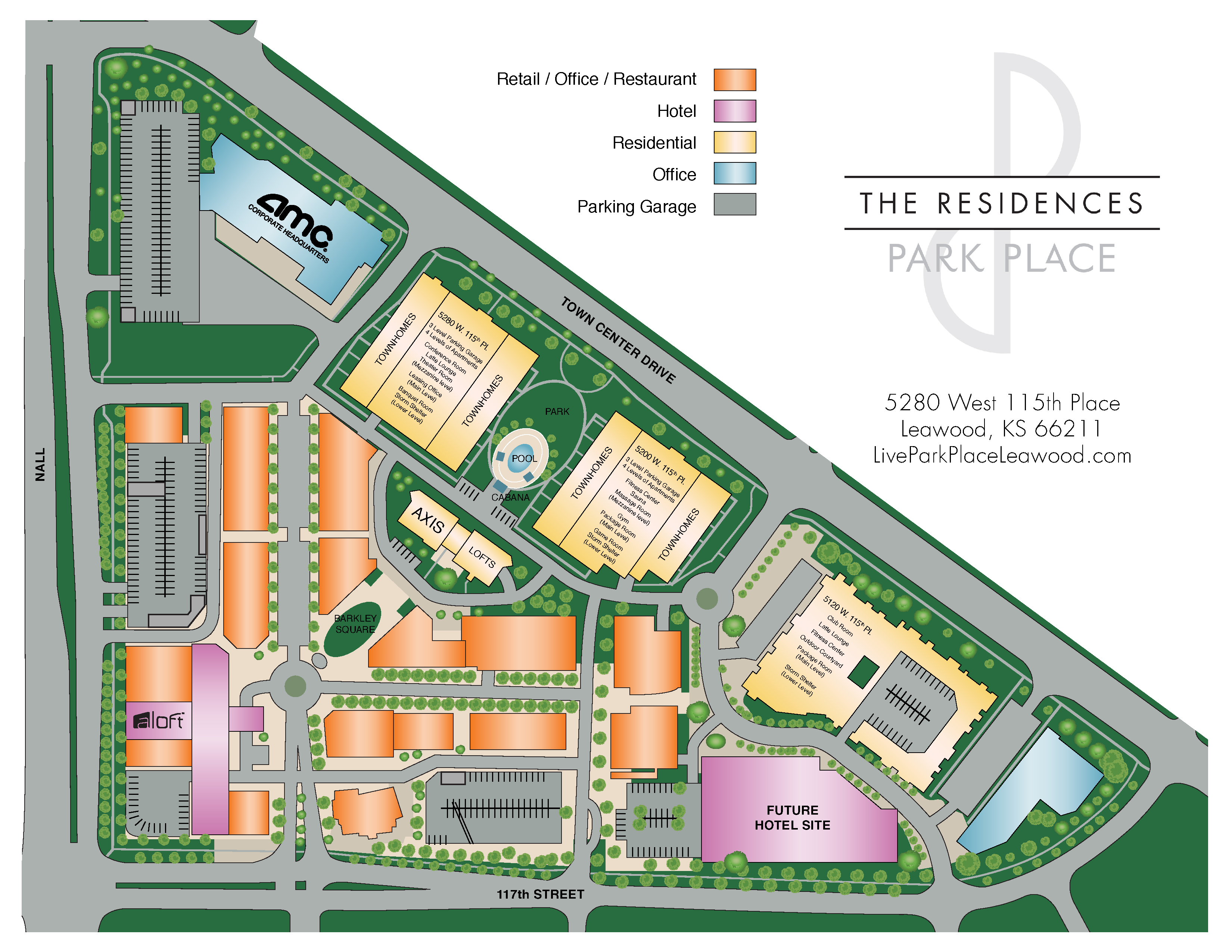 The Residences at Park Place Property Map