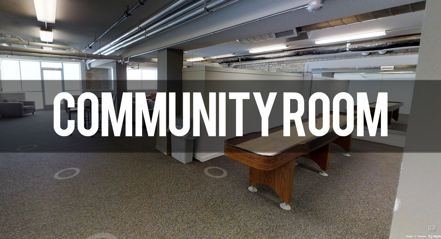 Virtual Tour of Community Room at Hopson Flats Apartments