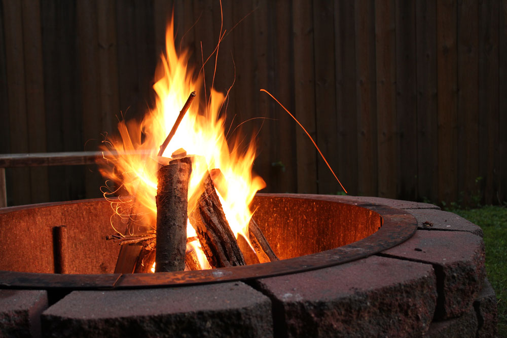 firepit at august court apartments Houston TX