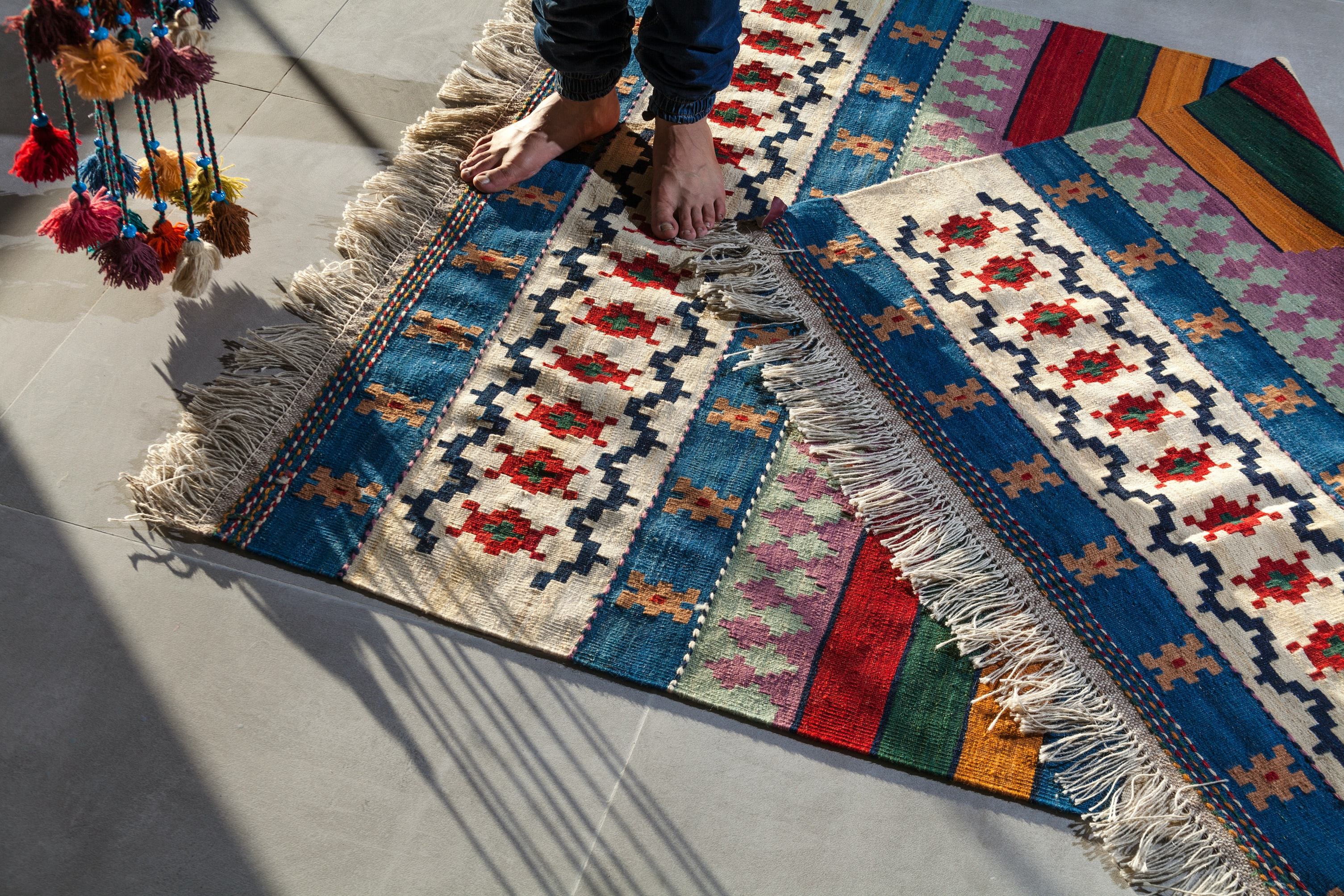 use rugs as noise canceling for neighbors below