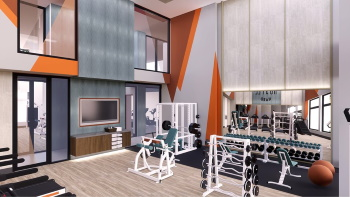 Fitness Center at The Apex at CityPlace Apartments