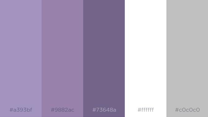 Purple + Gray + White + Silver