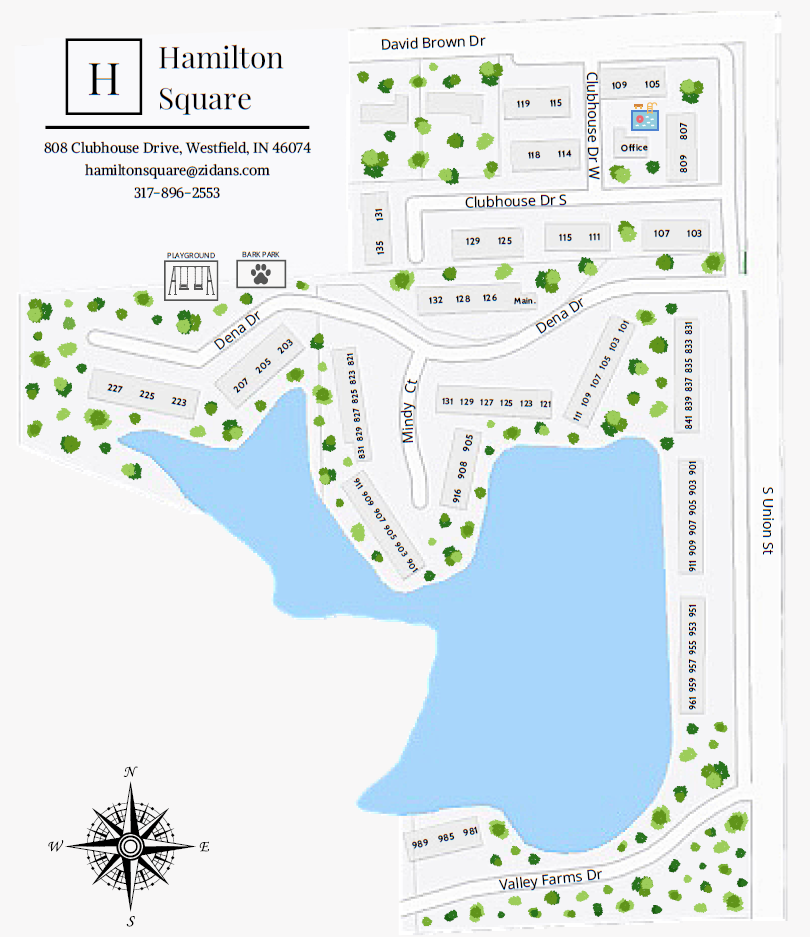Hamilton Square Property Map