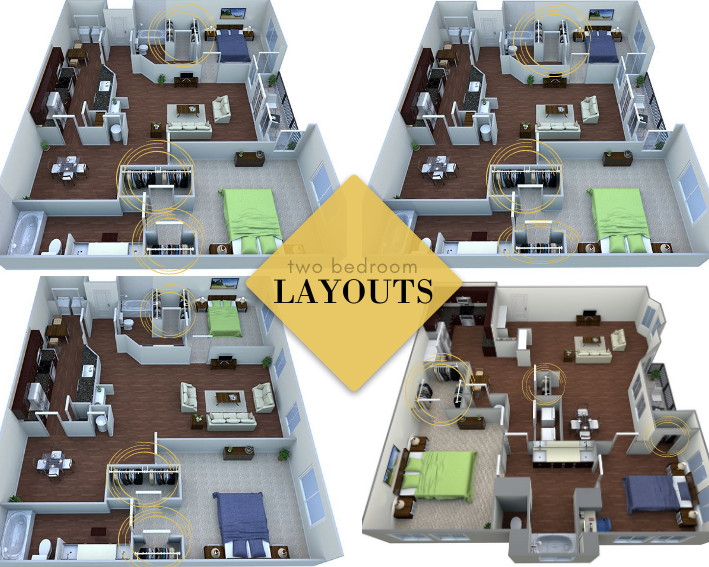 two bedroom apartments with extra storage space