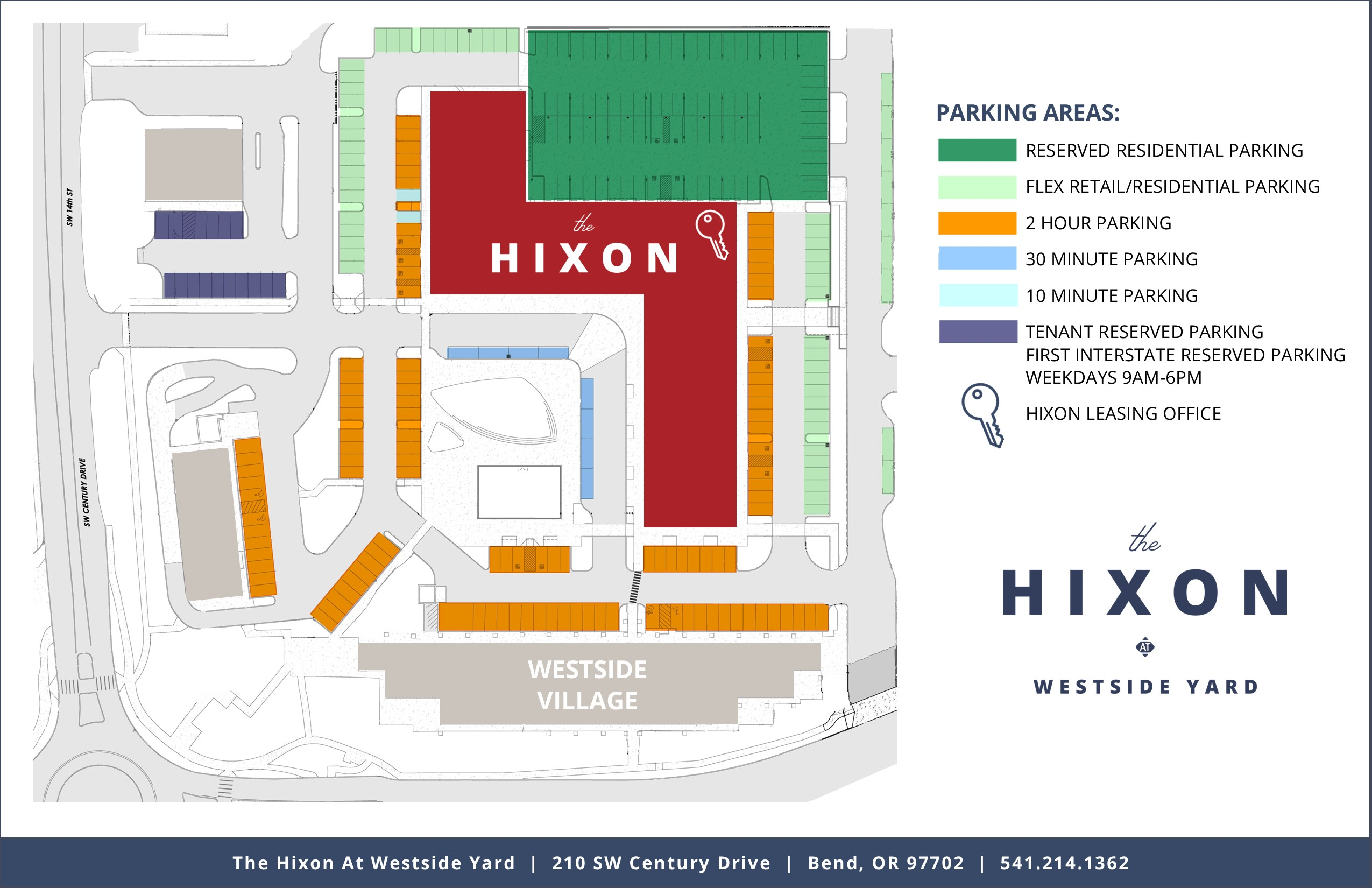 The Hixon Parking Map