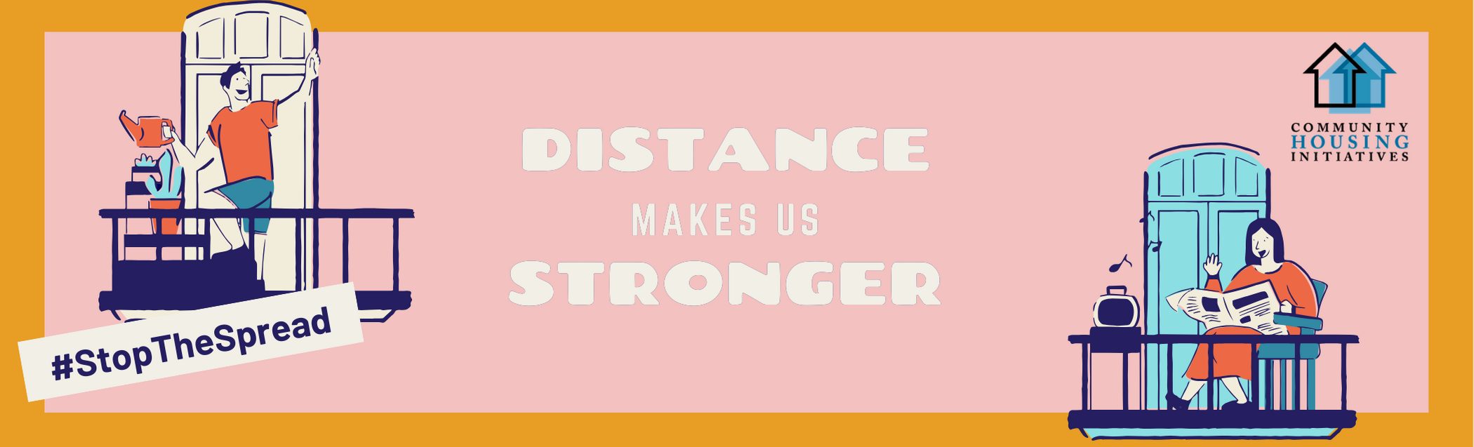 Distance Makes Us Stronger Graphic