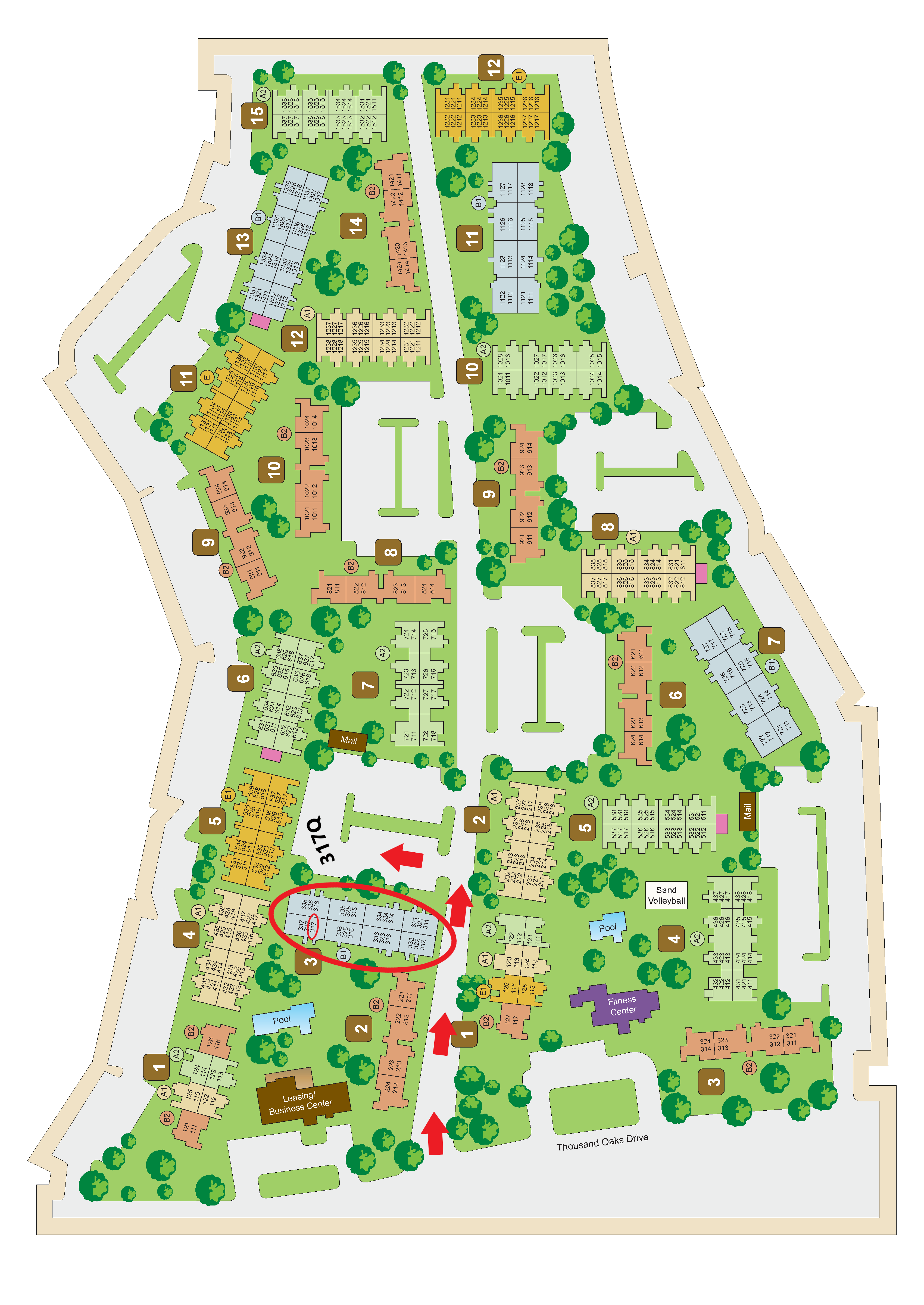 Property Site Map at Sunset Canyon Apartments, San Antonio, Texas