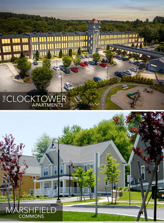 The Clocktower Apartments and Marshfield Commons