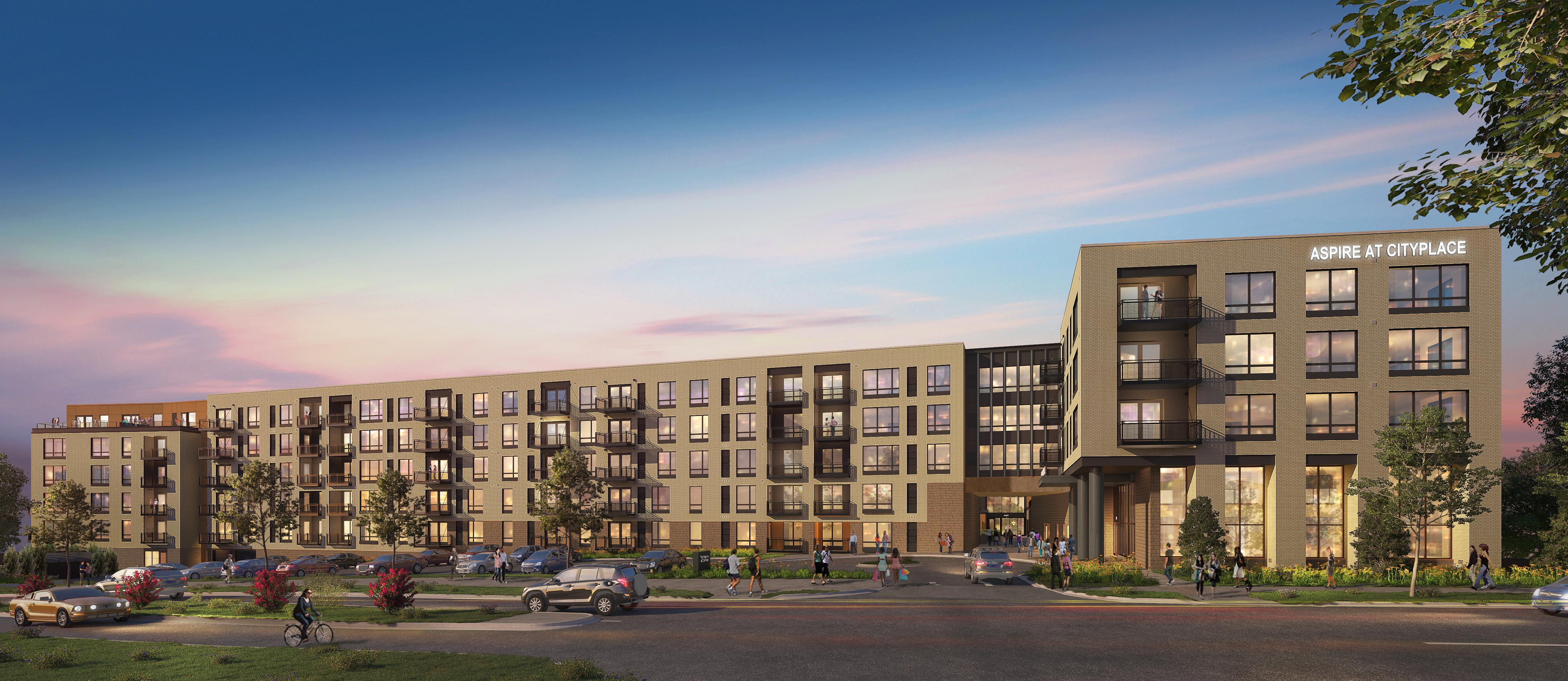 Rendering of Aspire at CityPlace residential development in Woodbury, MN