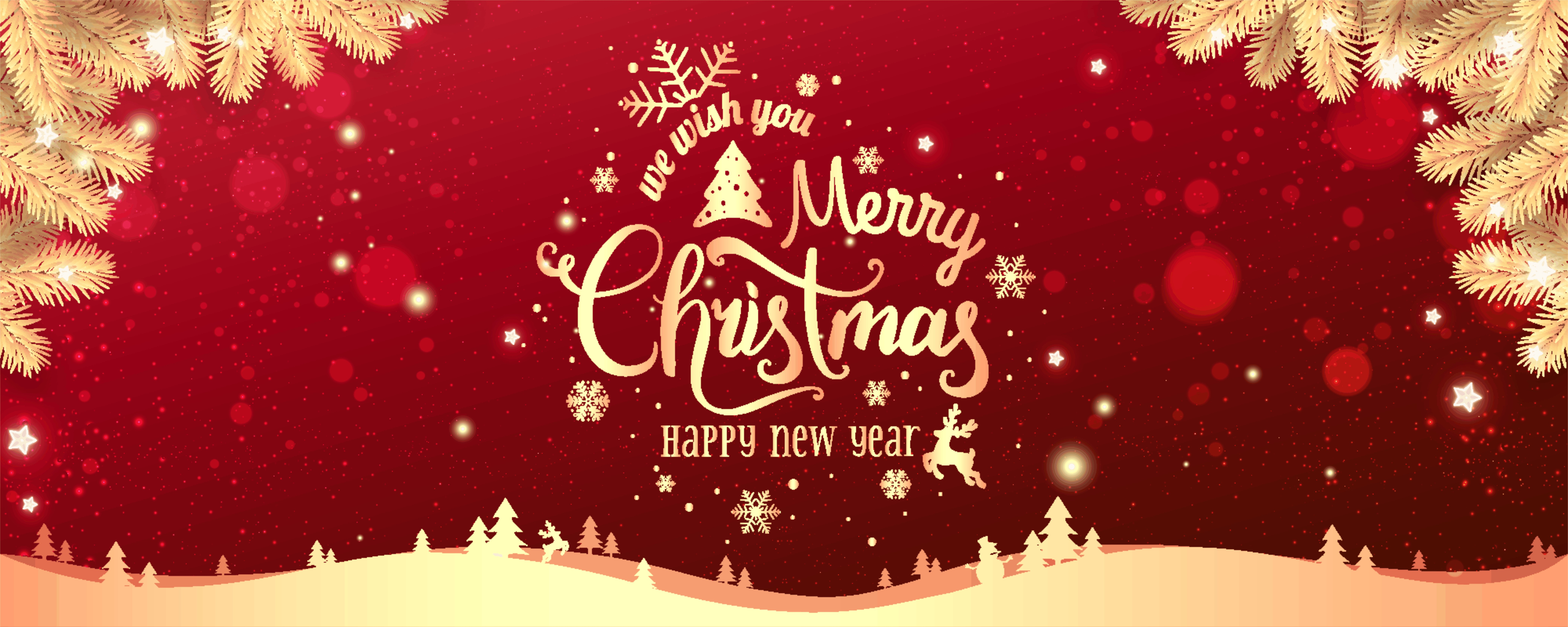 "graphic with ""Merry Christmas and Happy New Years"" message"