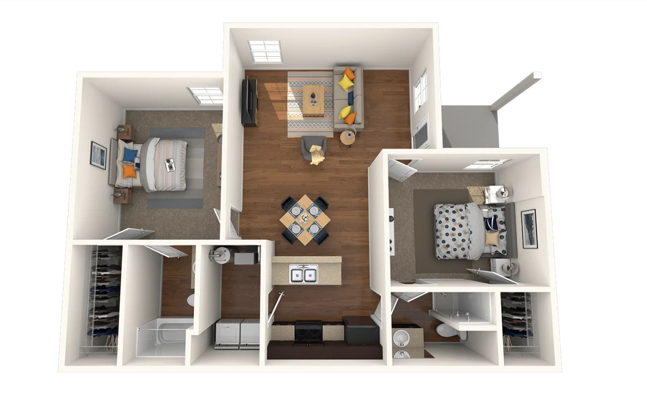 Two Bedroom 1021 Sq ft