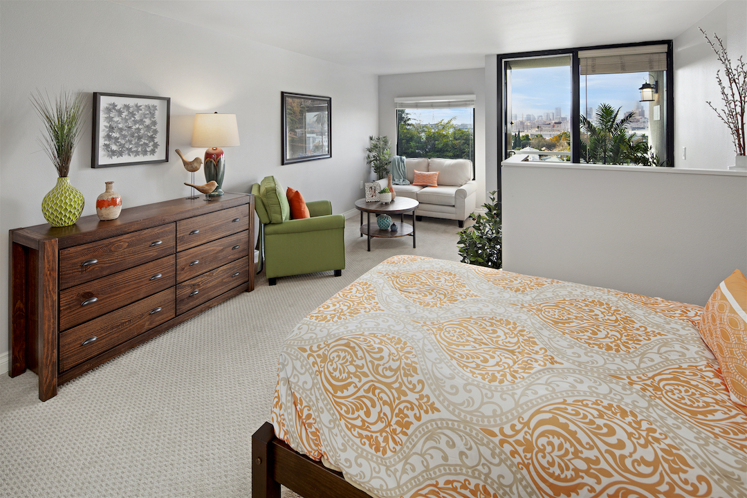 One of the beautiful bedrooms at Sakura Gardens of Los Angeles.