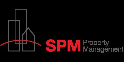 "SPM Logo with text ""SPM Property Mangement"""