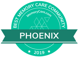 Pacifica Senior Living Paradise Valley is a MemoryCare.com Best Memory Care Community winner for 2019!