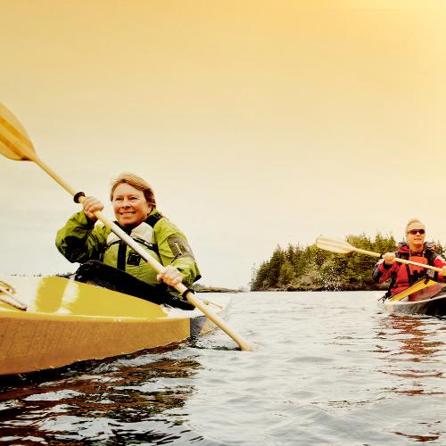 Couple Kayaking