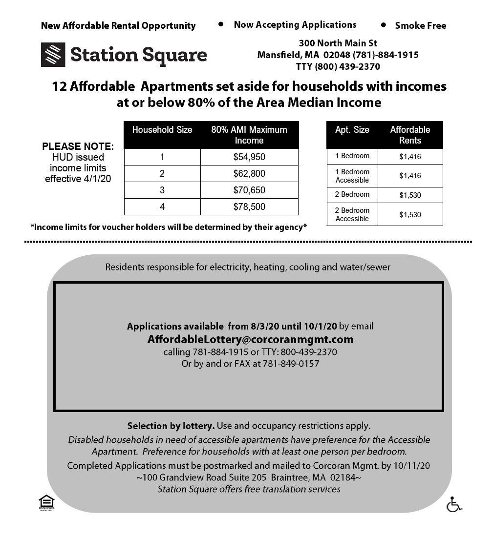 Station Square Affordable flyer information