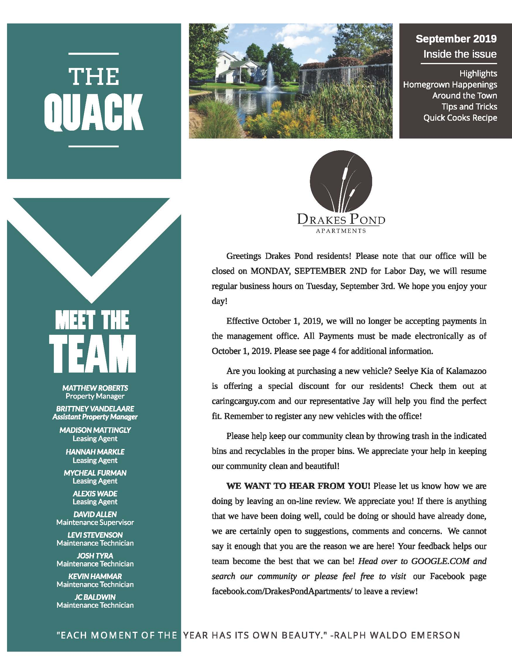 Drakes Pond Apartments | Community Page
