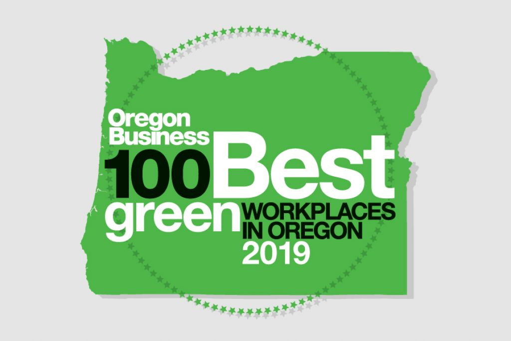 Green Award logo for 100 Best Green Workplaces in Oregon