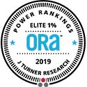 2019 ORA Elite 1% Award from J Turner Research