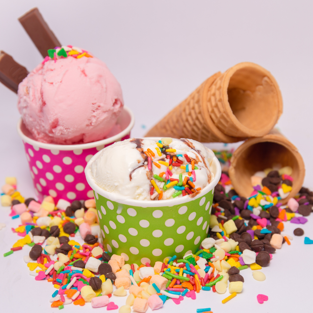 scoop of ice cream with candy
