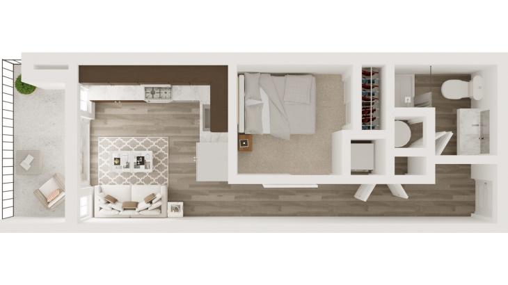 micro-apartment in Kansas City