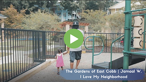 Family Enjoying Time at The Gardens of East Cobb Playground