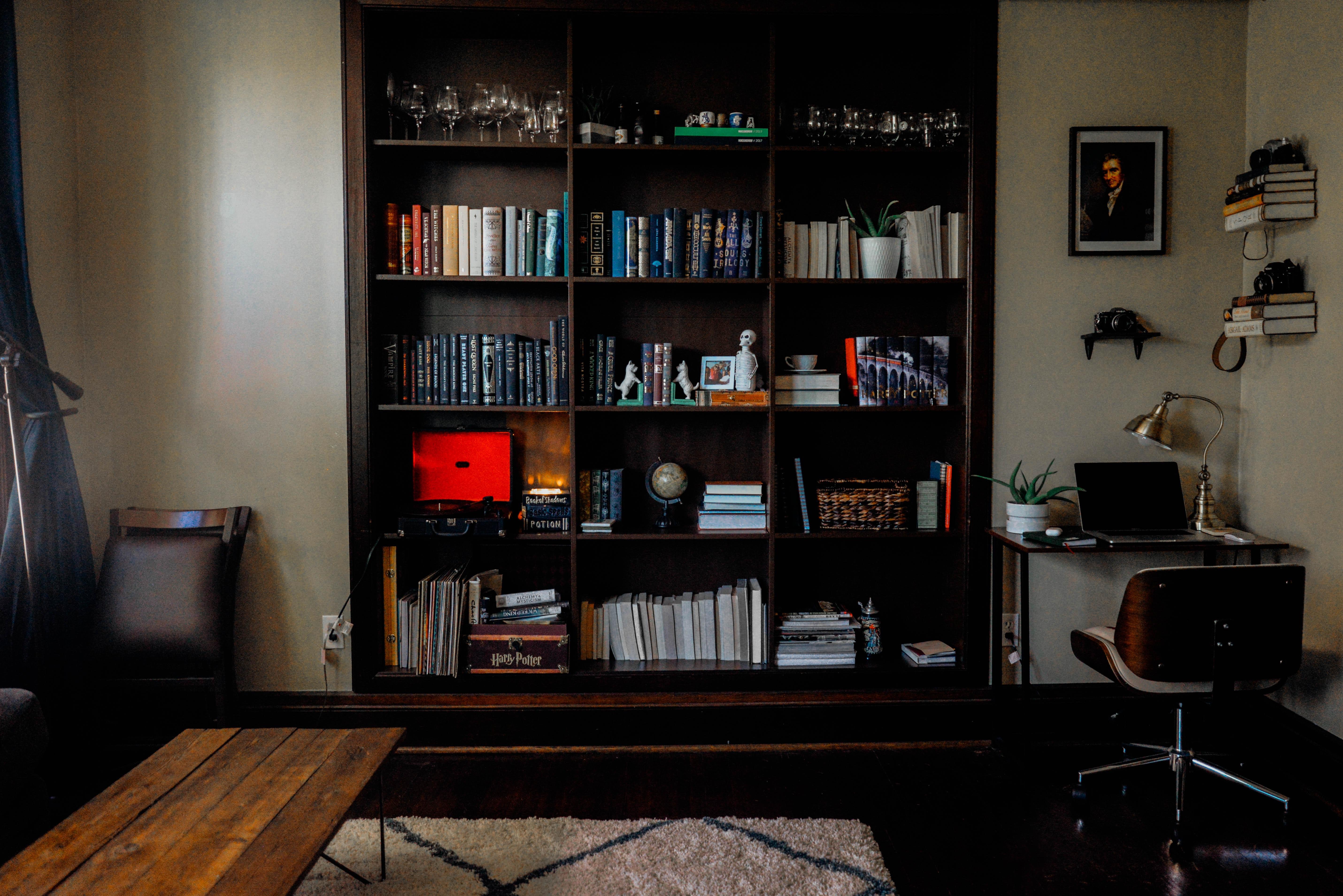 use bookcase to help block noise next door