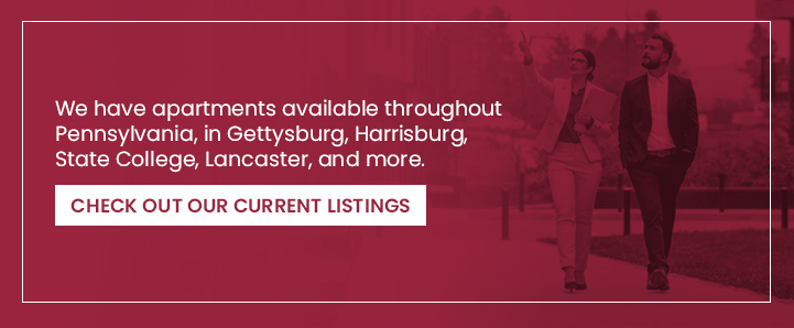 We have Apartments Available Throughout Pennsylvania